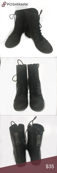 BONGO LADIES BLACK COMBAT BOOT Size 7.5 THESE ARE IN GREAT CONDITION LIKE NEW BONGO COMBAT BOOTS.  Size 7.5 BONGO Shoes Combat & Moto Boots