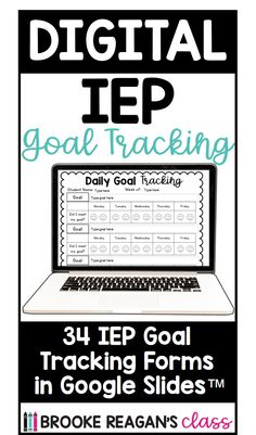 Track your student's IEP goals and data with these IEP goal tracking forms in google slides. Take your progress monitoring digital and make is super easy to track your student's IEP goals! #digitalIEPgoaltracking #Progressmonitoring #IEPgoals #specialeducationdata