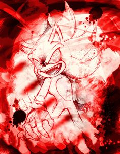 Crazy Super Sonic2 by Legeh on DeviantArt