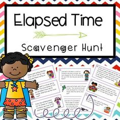 Keep your students engaged while practicing elapsed time word problems!  Students can move around the room while solving independently or with partners. Can also be put on google classroom as a remote activity. Elapsed Time Scavenger Hunt TEKS 3.7C, 4.8C , CCSS 3.MDA.1