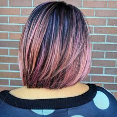 One length Bob and Rose Gold Ombre