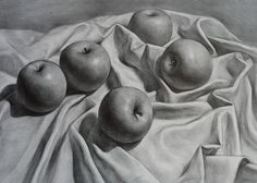 """Hand made Pencil Graphite Drawing Still Life on 18x24"""" Bristol Paper Charcoal. $150.00, via Etsy."""