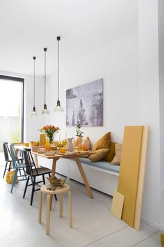 Awesome Genius Dining Room Design Ideas You Were Looking For. Enjoying a meal with your friends and loved ones is much more fun when you have a dining room design … Elegant Dining Room, Dining Room Design, Dining Area, Dining Room Bench, Dining Rooms, Dining Table, Esstisch Design, Kitchen Benches, Dining Room Inspiration