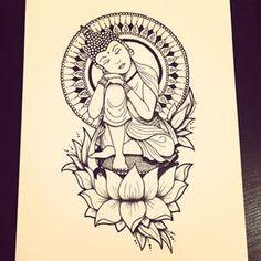 lotus flower buddhism drawing - Pesquisa Google