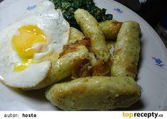 Bramborové noky s česnekem recept - TopRecepty.cz Gnocchi, Main Dishes, Sausage, Food And Drink, Potatoes, Eggs, Vegetarian, Meat, Chicken