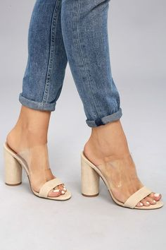 2faaa655c7a9 We have fallen hard for the Steve Madden Cheers Tan Suede Leather High Heel  Sandals!