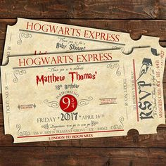 Harry Potter Birthday Invitation, Harry Potter Theme, Harry Potter Party, Harry Potter Baby Shower, Harry Potter Bridal Shower, Harry Potter Party Ideas, Hogwarts Express