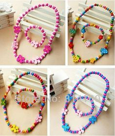 necklace or bracelet on sale at reasonable prices, buy 2013 hot sale brand new baby children girls fashion wood necklace & bracelet set kids gifts high quality wholsesale from mobile site on Aliexpress Now! Jewelry Kits, Kids Jewelry, Beaded Jewelry, Beaded Bracelets, Kids Necklace, Wood Necklace, Necklace Set, Cheap Necklaces, Girls Necklaces
