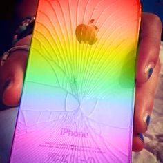 "LPT: Cracked iPhone back? Use highlighters to ""pimp yo' phone"" (FIXED MUCH BETTER) - Imgur"