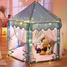 Frank Yard Animal Toy Tent For Kids Mosquito Net 110*65 Cm Elephant Cartoon Cute Children Kids Indoors Baby Sleeping Playhouse Tent Toys & Hobbies