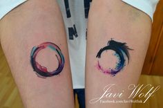 Ouroboro watercolor tattoo :) Estilo propio Tattooed by javiwolfink​www.javiwolf.com