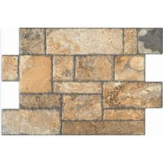 Style Selections Carmen Brown Glazed Porcelain Floor Tile (Common: 16-in x 24-in; Actual: 15.75-in x 23.625-in)