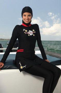islamic swimwear usa Islamic Swimwear, Designer Swimwear, Fashion Bags, Wetsuit, Beachwear, Portrait, Pretty, Skirts, Cute