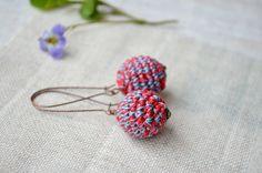 Dangle Earrings – Dangly  earrings Ball earrings  – a unique product by MiracleFromThreads on DaWanda