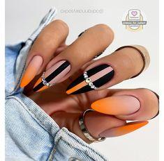 Chic Nails, Glam Nails, Dope Nails, Stylish Nails, Fun Nails, Fabulous Nails, Gorgeous Nails, Orange Nail Designs, Orange Nails
