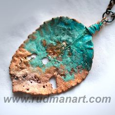 OOAK Necklace. Copper Preserved Nature - Unique Technology - Misty Rust Patina Copper Necklace - eco jewelry