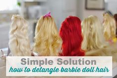 how to detangle barbie doll hair