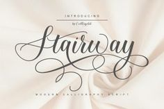 Stairway is a modern and elegant calligraphy font that comes with exquisite character changes and designed with high detail to... Best Script Fonts, Hand Lettering Fonts, Handwriting Fonts, Calligraphy Fonts, Typography Fonts, Cool Fonts, Character Changes, Font Setting, Font Styles