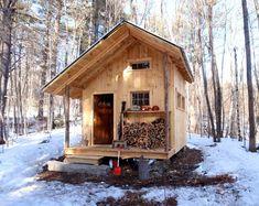 Small Cabin Loft DIY Build Plans 12' x 20' Tiny   Etsy Tiny Cabins, Wooden Cabins, Tiny House Cabin, Cabins And Cottages, Tiny House Living, Tiny House Plans, Tiny House Design, Small Cabin Designs, Small Cabin Plans