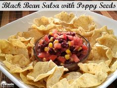 Black Bean Salsa with Poppy Seeds - FuntasticLife