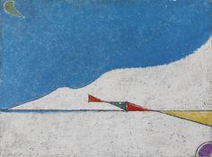 """Osvaldo Licini - L'alba, 1953  """"La Magnifica Ossessione"""" www.mart.tn.it/magnificaossessione"""