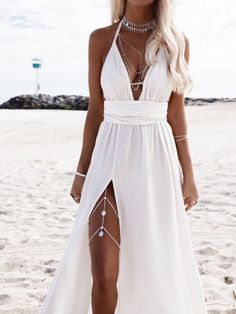 Hele Leg Chain - - Hele – Coins Leg Chain – Riviera Coco Source by Prom Dresses, Summer Dresses, Formal Dresses, Summer Clothes, Summer Outfits, Lace Bridal, Leg Chain, Honeymoon Outfits, Honeymoon Dress