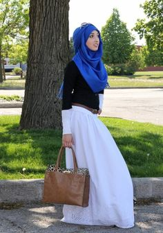 ilovemodesty.com opaque white skirt