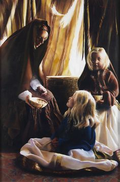 The models for this are my daughter and granddaughter. The Daughters Of Zelophehad (Mahlah, Milcah, and Tirzah) by Elspeth C. Young - Copyright: All Rights Reserved - 2007 Biblical Names, Biblical Art, Lds Art, Young Art, Bible Pictures, Christian Art, Religious Art, Art Music, Female Art