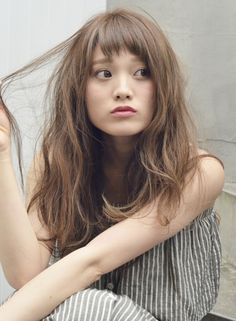 Hairstyles With Bangs, Pretty Hairstyles, Digital Perm, Medium Hair Styles, Long Hair Styles, Short Bangs, Salon Style, Asian Hair, Dream Hair
