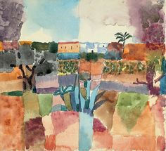 Paul Klee, Hammamet, 1914 on ArtStack #paul-klee #art
