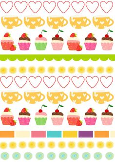 FREE printable cupcake party pattern paper