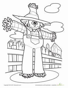 the 64 best icolor scarecrows images on pinterest coloring books
