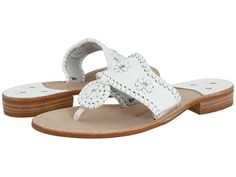 Jack Rogers Palm Beach Navajo Flat white/white.  Love these. Used to wear many different colors every Summer. Timeless style.