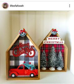 Dollar Tree Decor, Dollar Tree Crafts, Christmas Projects, Holiday Crafts, Holiday Decor, Fall Crafts, Homemade Christmas Tree Decorations, Wooden Halloween Decorations, Winter Wood Crafts