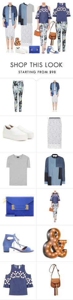 """""""Hues of Blue"""" by cherieaustin ❤ liked on Polyvore featuring Erdem, Opening Ceremony, Ganni, A.P.C., Victoria, Victoria Beckham, Sophie Hulme, Tabitha Simmons, Vintage Marquee Lights, Peter Pilotto and Chloé"""