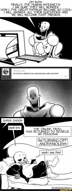 Holy hell Papyrus's face in the second panel is hilarious omfg
