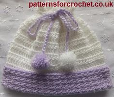 Free baby crochet patterns Pull on Hat USA