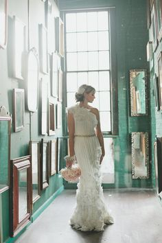 one-shouldered wedding gown // photo by Katie Osgood