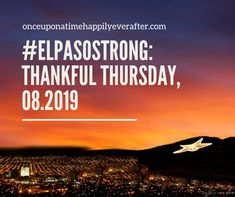 #elpasostrong  My beloved city embraces the shooting victims and works to stand up and recover.