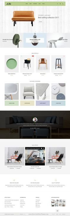 JMS 4Life is clean and modern design responsive #Shopify theme for stunning #furniture store website with 6 niche homepage layouts to live preview & download click on Visit  #webdesigns