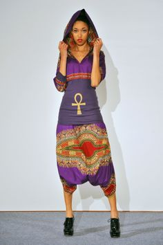 "purple ""LIFE"" dashiki hoodie and harem pants photo by BelmondoPhotography www.facebook.com/pages/Tabatap"