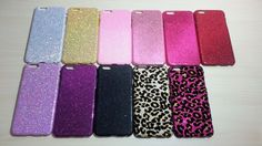 For Apple iPhone 6 Plus (5.5 inches) Glitter Hard Plastic Snap On Back Case