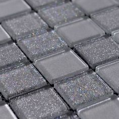 Home Elements Crystal Glass Tile - silver glass mosaic tile, blue glass tiles, grey glass tile for kitchen wall tile COB0095