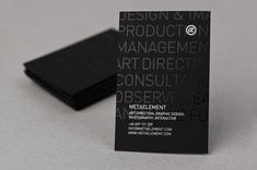 Who says black has to be morbid? Step into the luxurious side and impress with these black business card designs.