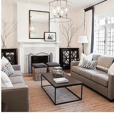 Living Room Ideas Design With Modern Furniture, Sofas, And Couches.