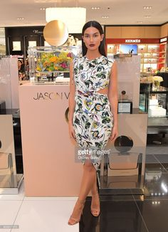 Lily Aldridge attends a personal appearance with Jason Wu at Bloomingdale's Century City on January 18, 2018 in Century City, California.