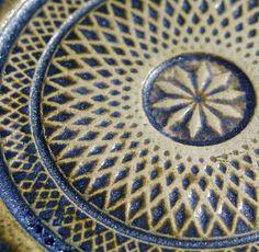 Kafle ceramiczne ręcznie robione - Mandala  znalezione na: www.dekor-kafle.pl  Handmade ceramic tiles