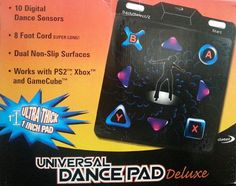 PS2 Dance Pad and Mat Non-Slip Universal Deluxe Works With PS2 XBOX GameCube #Datel #dancepad #universaldancepaddelluxe