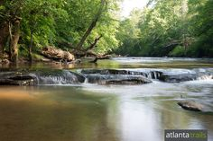 Hike 3.2 miles on the Yellow River Trail to explore Yellow River's sandy, meandering shores near Stone Mountain
