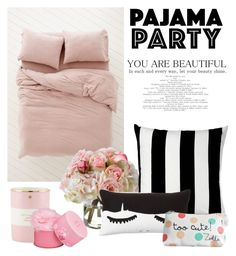 """Pajama party"" by tanyaf1 ❤ liked on Polyvore featuring interior, interiors, interior design, home, home decor, interior decorating, Diane James, Unison, PBteen and Kate Spade"
